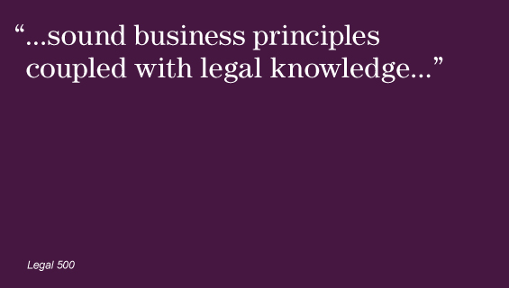 """...sound business principles coupled with legal knowledge..."""
