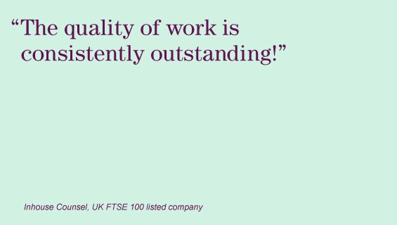 """The quality of work is consistently outstanding!"""